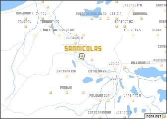 map of San Nicolás