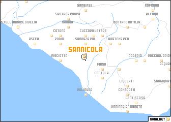 San Nicola Italy map nonanet