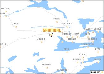 map of Sannidal