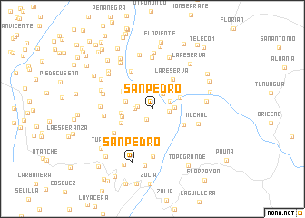 map of San Pedro