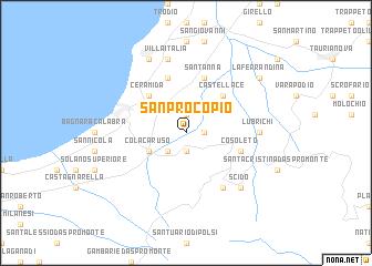 map of San Procopio