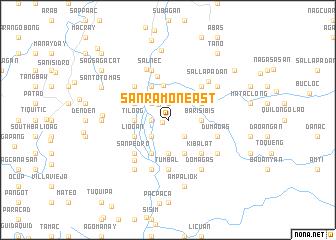 map of San Ramon East