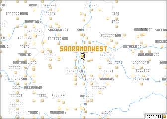 map of San Ramon West