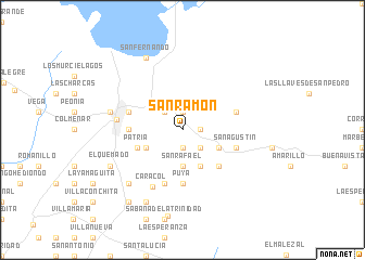 map of San Ramón