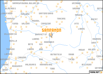map of San Ramon