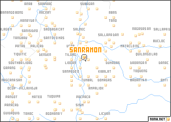 map of San Ramon