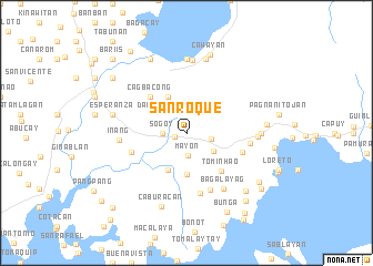 map of San Roque
