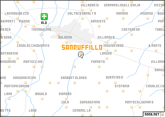 map of San Ruffillo