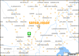 map of San Salvador