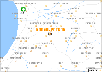 map of San Salvatore