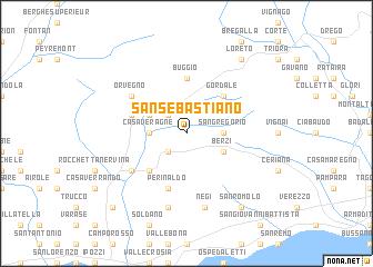 map of San Sebastiano