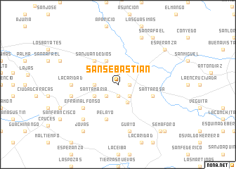 map of San Sebastián