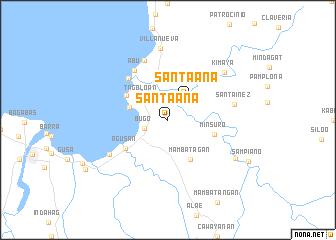 map of Santa Ana