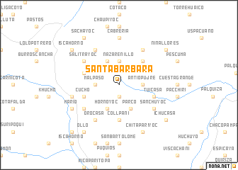 map of Santa Bárbara