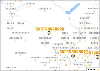 map of Santa Bárbara