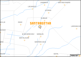 map of Santa Bertha