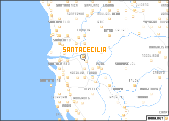 map of Santa Cecilia