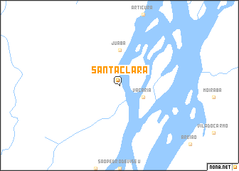 map of Santa Clara