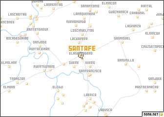 map of Santa Fe