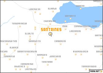 Santa Inés (Mexico) map - nona.net