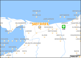 map of Santa Inés