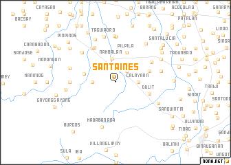 map of Santa Ines
