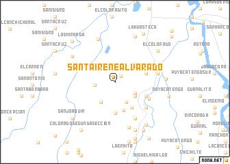 map of Santa Irene Alvarado