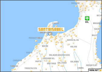 map of Santa Isabel