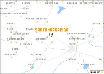 santa margarida mapa Santa Margarida (Portugal) map   nona.net santa margarida mapa