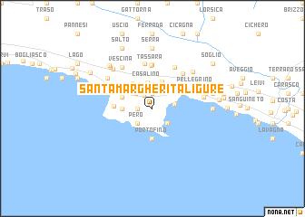 Santa Margherita Ligure Italy Map Nona Net