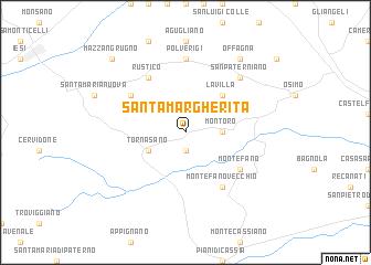 Santa Margherita Italy Map Nona Net