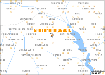 map of Santa María de Buil