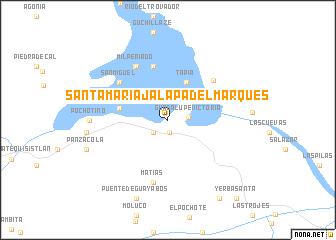 Santa Mara Jalapa del Marqus Mexico map nonanet