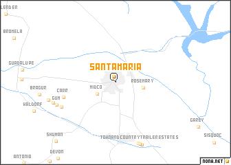 map of Santa Maria