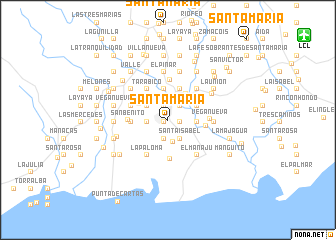 map of Santa María