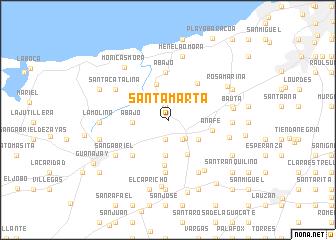Santa Marta Cuba map nonanet