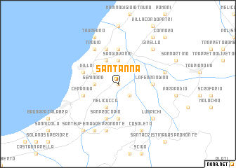 map of Sant'Anna