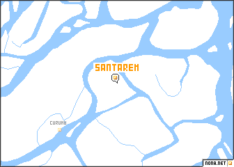 map of Santarém