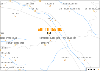 map of Sant'Arsenio