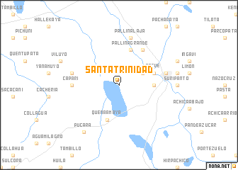 map of Santa Trinidad