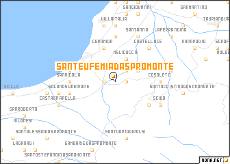 map of Sant'Eufemia d'Aspromonte