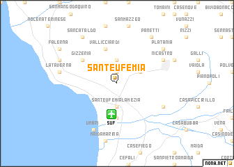 map of Sant'Eufemia