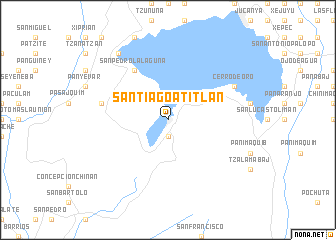 map of Santiago Atitlán