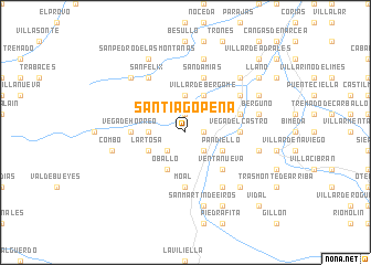 map of Santiago Peña