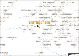 map of Santiago Peña