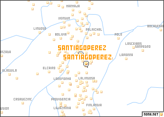 map of Santiago Pérez