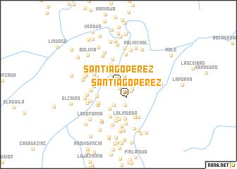 map of Santiago Pérez