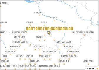 map of Santo António das Areias