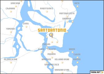 map of Santo Antônio