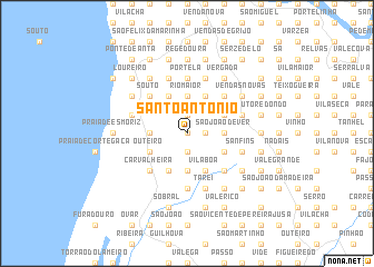 map of Santo António